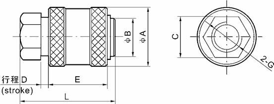 hsv hand sliding valve two position three way g1  8